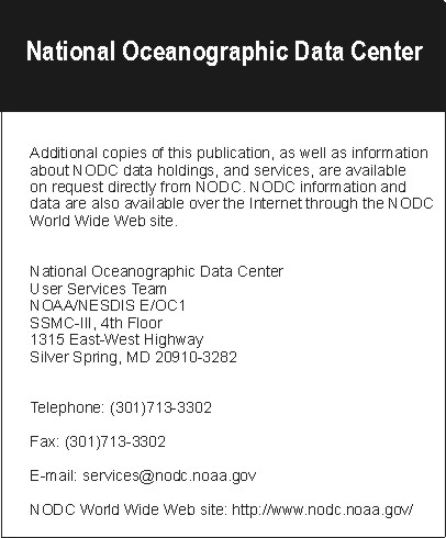 NODC contact services information