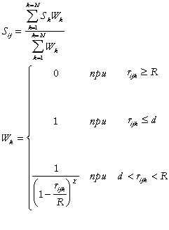 Image of the formula for the computation of parametric value in the knot of the grid area