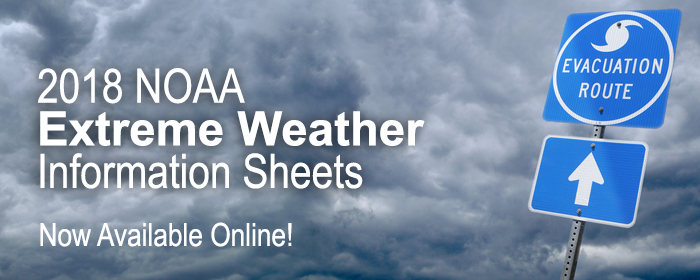 2018 NOAA Extreme Weather Information Sheets