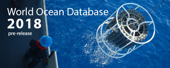 World Ocean Database 2018 prerelease